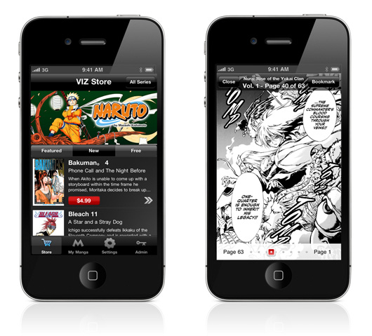 Viz Manga App For iPhone & iPod Touch